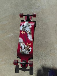 red and white long board Manteca, 95337