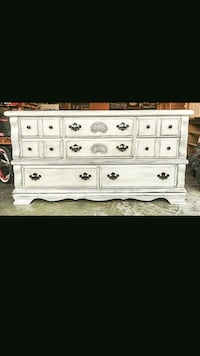 white wooden 6-drawer lowboy dresser St. Peters, 63376