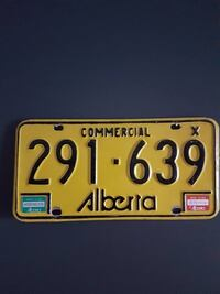1983/1984 commercial alberta license plate