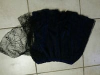 Spiderweb lace covered skirt