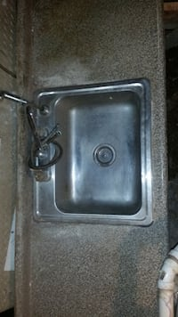 Kitchen sink and countertop