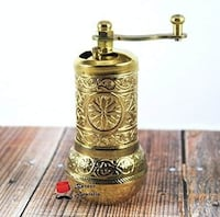 Handmade Embroidered Copper Coffee Grinder  INDIANAPOLIS