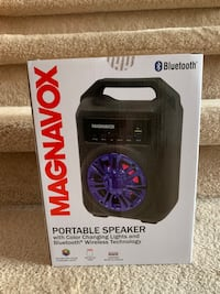 Portable wireless Bluetooth color changing speaker