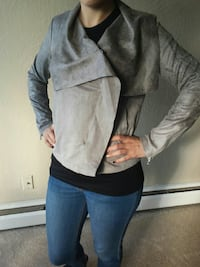 women's Amisu gray coat 3768 km