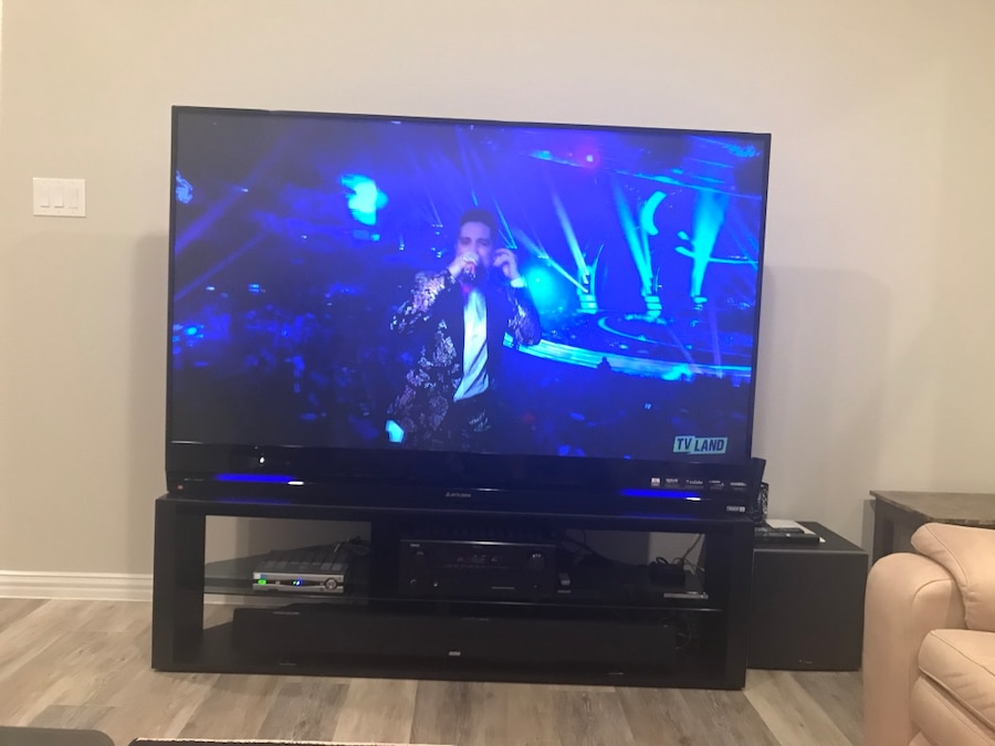 Mitsubishi TV 72 Inch With Polk Sound Bar System And Subwoofer