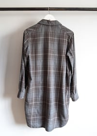 Aritzia Wilfred Grey Plaid Long CALGARY