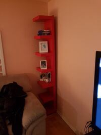 2 shelves red 7foot tall
