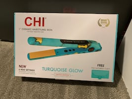 "(BRAND NEW) CHI 1"" Ceramic Hairstyling Iron Turquoise Glow Limited Ed."
