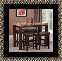 5pc Pub table with 4 stools 67 km