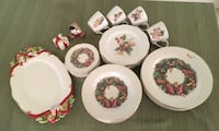 83 piece disney holiday dinnerware set for 16 christmas plates cups