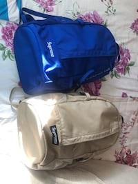 Ss18 tan and blue supreme backpack Richmond, V6Y 4B6
