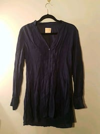 ECLETIC navy blue long shirt size S