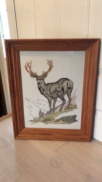 "HAND STICTHED BUCK PICTURE IN FRAME 15"" x 19"" Littlestown, 17340"
