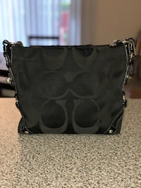 Black coach monogram shoulder bag Rockville, 20850