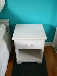 white wooden 2-drawer nightstand Montréal, H9A 1E5