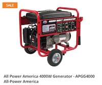 Red and black generac portable generator Snow Hill, 28580