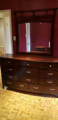 brown wooden dresser with mirror Vaughan, L4L 2A1