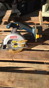 blue and grey Ryobi circular saw Bristow, 20136