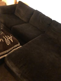 Chocolate brown sofa with chase Elgin, 29045