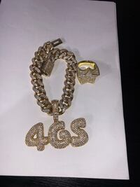 Gold bonded jewelry handmade stones not glued Miami Cubans + custom work and letters available starting at 99$+  New York, 11234