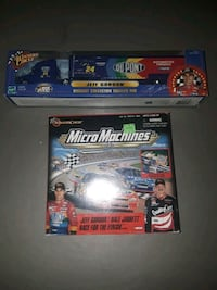 Jeff Gordon diecast trailer rig and micro machines race for the finish