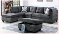 Nice sectionals sofa with ottoman 30 November available  Brampton, L6P