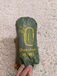 Quechua rain cover for travel backpack