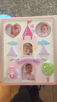 white, green, and pink photo collage frame Elk Grove, 95624