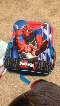 red and blue SpiderMan themed backpack Saskatoon, S7J 3P2