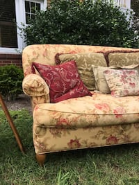 Antique floral fabric loveseat Silver Spring, 20901