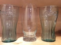 COKE, COCA COLA GLASSES PLUS AN EXTRA GLASS Piscataway Township, 08854