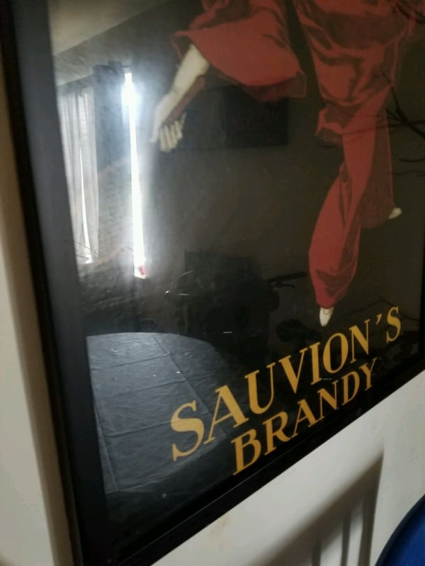 Large Sauvion's Brandy Picture & Frame 2