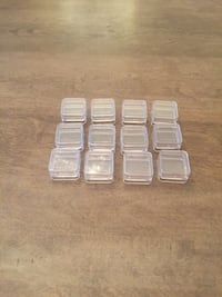 12 little storage organizing / stacking containers