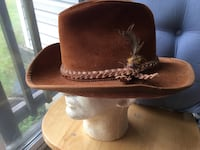 Brown Leather hat size Medium asking $40.00 or best offer  [TL_HIDDEN]   Woodbine, 21797