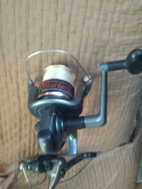 black and gray fishing reel Victoria, V9A