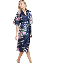 women's blue and pink floral dress Scarborough, M1E