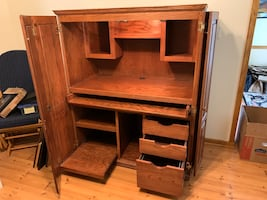 Solid Wood Computer Hutch
