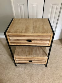 Wood and metal side table, nightstand Springfield, 22153