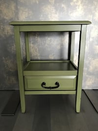 Moss green wood end table from Pier One Mississauga, L5E