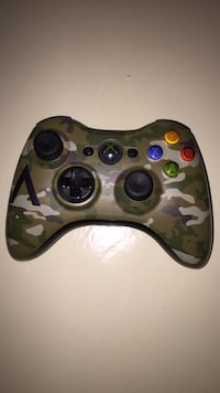 black and gray camouflage Xbox 360 controller Palmhurst, 78573