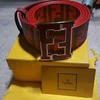 Authentic red and black leathered Findi belt Charleston, 29403
