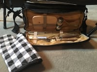 brown and white leather shoulder bag 586 km