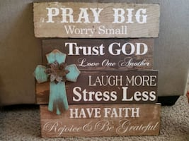 Beautiful Wall Art Sign (Shabby chic, Vintage)