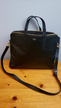 Fossil Laptop Bag - Black Leather