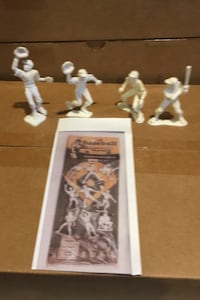4 vintage 1950s lido baseball figures  Chantilly, 20151