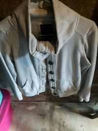 gray button-up jacket Welland