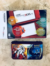 Nintendo 3DS LX only used a little. Bought last year. Comes I. Original packaging with nice case and three games... Pokémon sun & moon and Yo Kia. In excellent condition