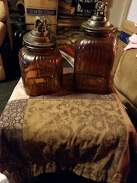 Decanters with Elephant Tops