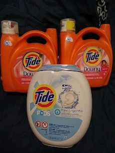 three Tide products bottle