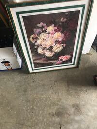pink and white petaled flowers painting Bristow, 20136